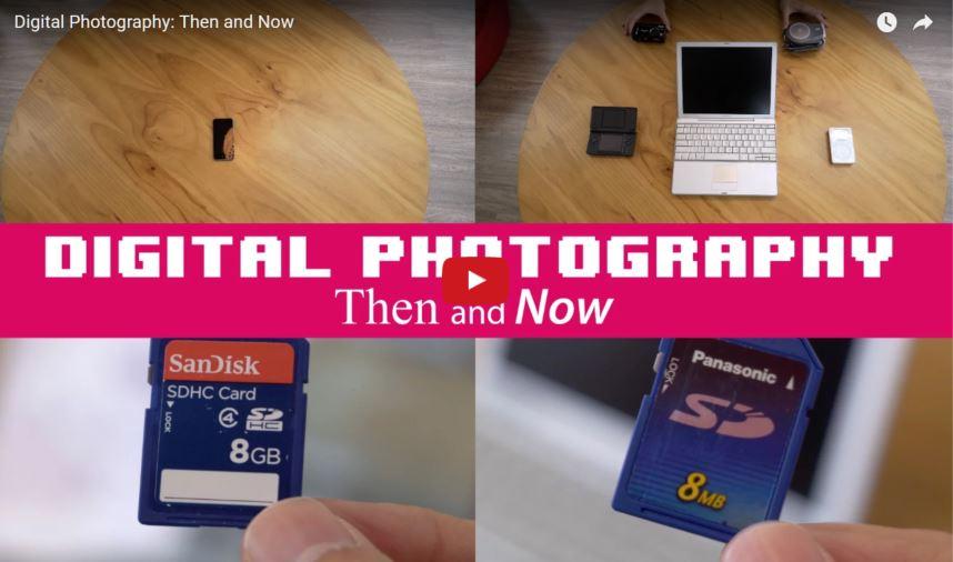 Comparando a fotografia digital de antes e de hoje